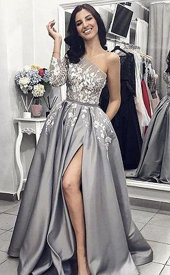 Pink Long-Sleeves Backless Beaded Mermaid Shiny Prom Dresses