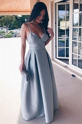 Elegant Simple White Mermaid Straps Floor-Length Cheap Bridesmaid Dress